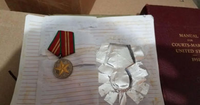 Russian medal for Impeccable service