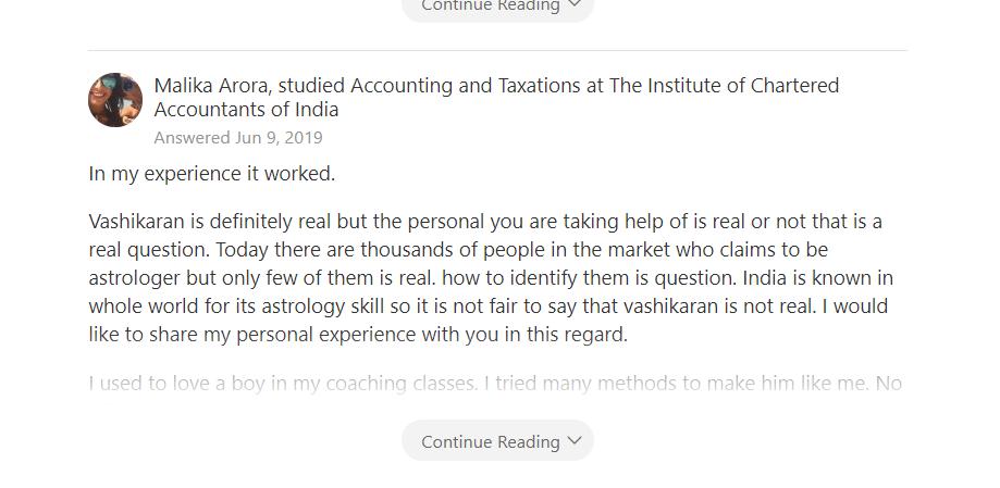 vashikaran comments
