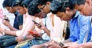 Students using phone