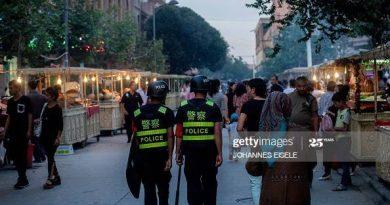 Police in Xinjiang