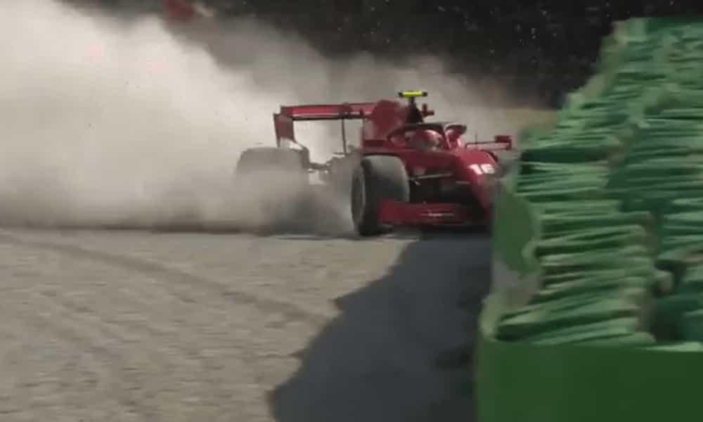 Leclerc crash Italian GP