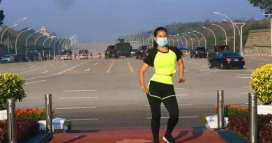 Myanmar military coup girl dance