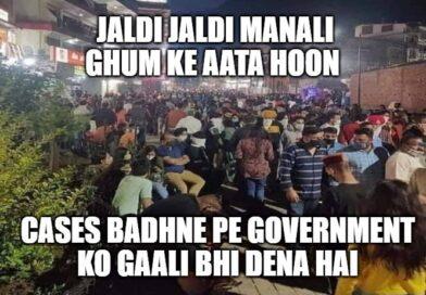 post lockdown crowd in manali